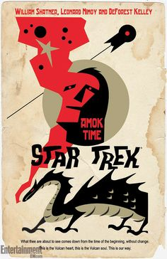 'Star Trek' retro poster campaign tackles classic episode 'Amok Time'