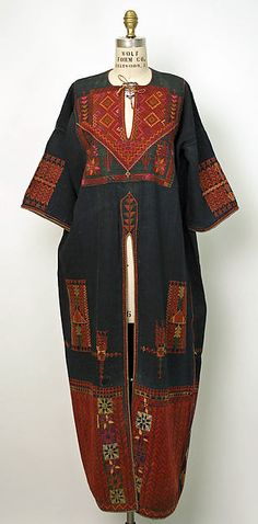 Ensemble, early 20th century, Palestinian (donated 1943), linen, cotton
