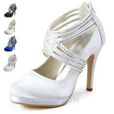 20 Colors)Wedopus Bridal Silver Shoes Low Heels Bridesmaid Sandals ...