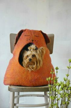 """Pet bed/ pet cave/ pet house/cat bed- """"Sleepy dog""""/Ready to ship! - pinned by pin4etsy.com"""