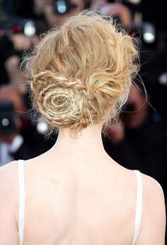 Nicole Kidman at Cannes 2013 Nicole Kidman, Carey Mulligan, Bridal Braids, Bridal Hair, Emma Watson, Messy Hairstyles, Wedding Hairstyles, Cannes, Gatsby
