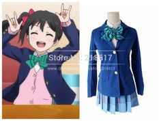 Free Shipping Japanese Anime Love Live Cosplay Costumes Halloween Party Lovelive School Uniforms Blazer+Skirt + 1 Piece Neck tie-in Costumes & Accessories from Novelty & Special Use on Aliexpress.com | Alibaba Group