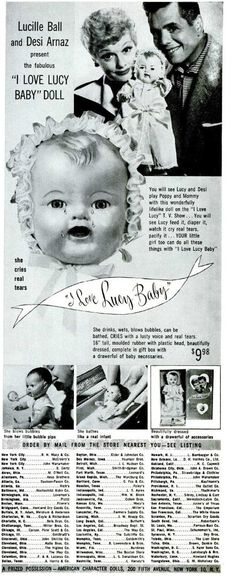 "1952 ad: ""I Love Lucy Baby"" Doll"