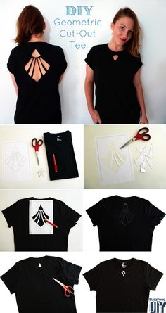 thedawnisathand:  DIY Cutout Shirt