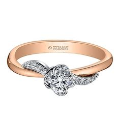 Diamond Engagement Ring in Rose Gold - 2269958 - Helzberg Diamonds Classic Engagement Rings, Shop Engagement Rings, Round Diamond Engagement Rings, Engagement Ring Settings, Diamond Wedding Rings, Bridal Rings, Small Diamond Rings, Diamond Jewelry, White Gold Wedding Rings