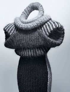 13threads: Sculptural Knitting- I just want to know what this feels like on