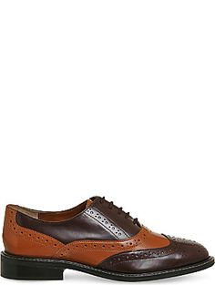 OFFICE Leather Patchwork lace up brogue