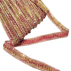 Decorative Golden Sequin & Bedded Ribbon by Indianbeautifulart