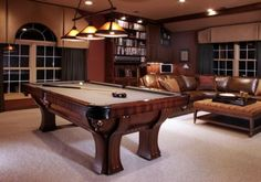 Media Room Game Room Design, Pictures, Remodel, Decor and Ideas Find this pool table Vegh's Game Room Design, Small Room Design, Home Design, Interior Design, Pool Table Room, Pool Tables, Game Room Basement, Playroom, Basement Bars