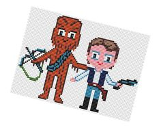 Han Solo and Chewbacca - Star Wars Pattern PDF by POWSTITCH