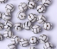 10mm Porcelain Charms Volleyball Jewelry Necklaces Making Findings Beads http://www.eozy.com/10mm-porcelain-charms-volleyball-jewelry-necklaces-making-findings-beads.html
