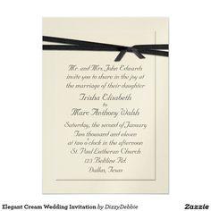Elegant Cream Wedding Invitation