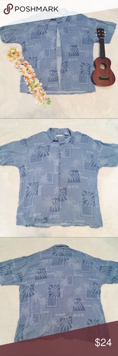 66812284 Giant Cozy Hawaiian Print Shirt Vintage Hawaiian print. A more wearable  pattern than your typical