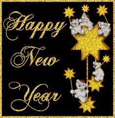 Happy New Year Glitter Graphic