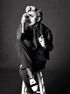 Tom Munro photographs Madonna in 'Art for Freedom' for L'Uomo Vogue, June 2014