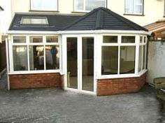 Guardian Warm Roof with Slate grey tiling effect and rooflight Tiled Conservatory Roof, Conservatory Interiors, Conservatory Extension, Conservatory Ideas, Garden Room Extensions, House Extensions, House Extension Design, Extension Ideas, House Design