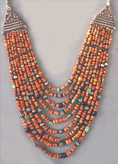 Many strand coral necklace from Kulu Manali Himachel Pradesh. lt 19th c (private collection Linda Pastorino)