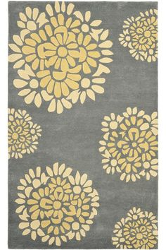Yellow flower rug area rug ideas laveine rug orange blue rugs love this and mightylinksfo
