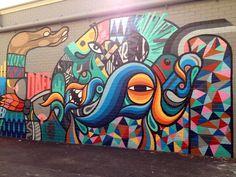 Beastman Street Art Graffiti, Graffiti Wall Art, Murals Street Art, Mural Wall Art, Graffiti Lettering, Pop Art, Amazing Street Art, Amazing Art, Street Artists