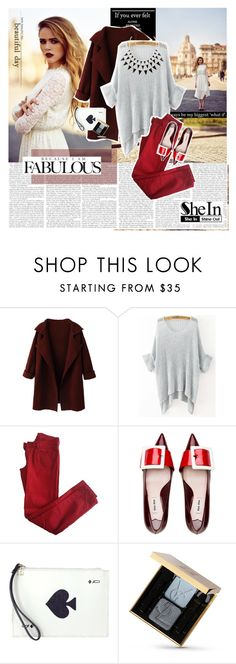 """Game"" by cherry1987 ❤ liked on Polyvore featuring Comptoir Des Cotonniers, Kate Spade and Yves Saint Laurent"