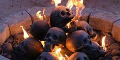 That's right, you can now put fireproof skulls into your firepit (or anywhere you can actually make a fire) to turn a rather mundane evening watching logs (or gas) burn into a scene that seem…