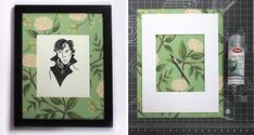 Have your bridal shower guests create a collection of stylish picture mats, but frame pictures that are a humorous take on her interests (she can replace them later with wedding photos or her own art). For the bride that loves binge-watching BBC shows, this illustration of Benedict Cumberbatch's Sherlock would be perfect.