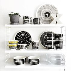 Marimekko Shelfie taken by 📸 Norway Design, Unique Toys, Shelfie, Marimekko, Beautiful Kitchens, Scandinavian Style, Floating Shelves, Kitchen Dining, Home Improvement