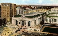 Grand Central Station in a 1910 postcard view. (Library of Congress)