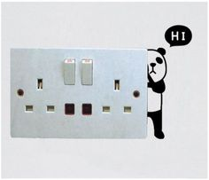 There's a cute Panda who's a little shy; he's hiding behind your switchboard and trying to say 'Hi'! :) Get this cool switchboard decal, only on http://www.gloob.in/decals/hidden-panda.html