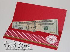 Stylin' Stampin' INKspiration: Envelope Punch Board Money Holder