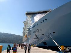 Royal Caribbean Oasis of the Seas docked at Labadee Haiti