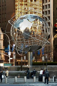 Globe Sphere outside Trump Towers. Columbus Circle - New York City