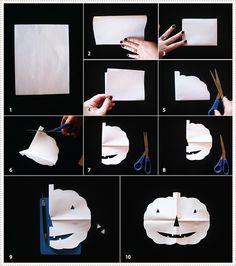 Paper pumpkin tutorial. #MarthaStewartLiving