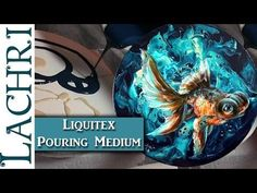 Liquitex Pouring Medium Tips & Painting a Goldfish in Acrylics w/ Lachri - YouTube