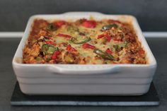 Mexicaanse ovenschotel! Low Carb Keto, Low Carb Recipes, Keto Dinner, Macaroni And Cheese, Paleo, Healthy Eating, Lunch, Breakfast, Ethnic Recipes