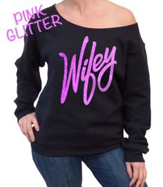 Wifey Oversized Sweatshirt //  Pink Wifey Slouchy Sweatshirt // Wifey Sweatshirt // Pink Glitter Off Shoulder What To Wear Today, How To Wear, Off Shoulder Sweater, Girls Night Out, Pink Glitter, Autumn Fashion, Girly, Trending Outfits, My Style