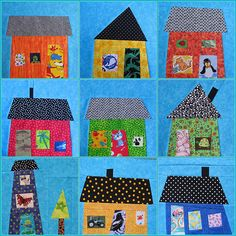 """i spy house baby quilt 