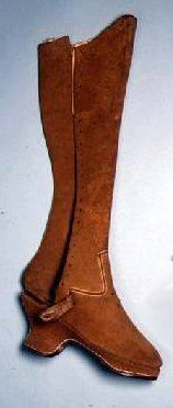 Boots believed to have belonged to Queen Elizabeth I (1533-1603),leather, Ashmolean Museum, University of Oxford