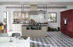 NOLTE Country house, Landhaus Kuchnia wiejska, przytulna, szara