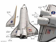 Atlantis Space Shuttle paper model