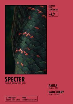 ALTERED SOUL EXPERIMENT x MAISON C.C. / Poster design - Specter