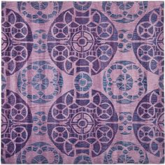 Wyndham Purple 7 ft. x 7 ft. Square Area Rug