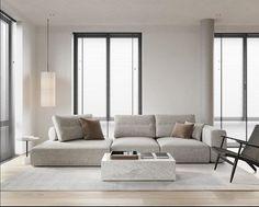 Modern Minimalist Living Room, Minimalist Home Interior, Minimalist Sofa, Minimalist Kitchen, Home Room Design, Living Room Designs, Salon Simple, Cheap Dorm Decor, Modern Sofa Designs