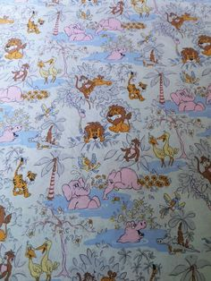 Cute #vintage #retro 60s 70s children's jungle #fabric pillowcase duvet cover ,  View more on the LINK: 	http://www.zeppy.io/product/gb/2/252466175027/