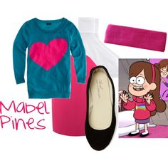 """""""Mabel Pines (Gravity Falls)"""" by colorsgalore on Polyvore"""