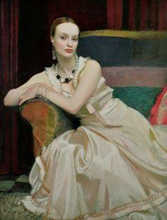 Cynthia by George Spencer Watson (Britsh), 1932, oil on canvas #GeorgeSpencerWartson
