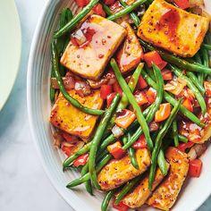 Tofu aux épices à steak et légumes poêlés   Ricardo