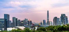 The Skyline of Shenzhen China [OC][7826x3616]