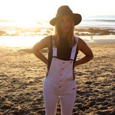 White Button Up Overall