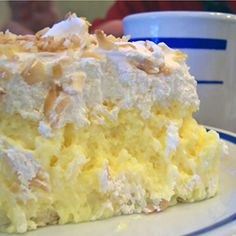 Coconut Cream Pie Recipe from Divine Desserts aunt marie makes this I dont it not from a box lol
